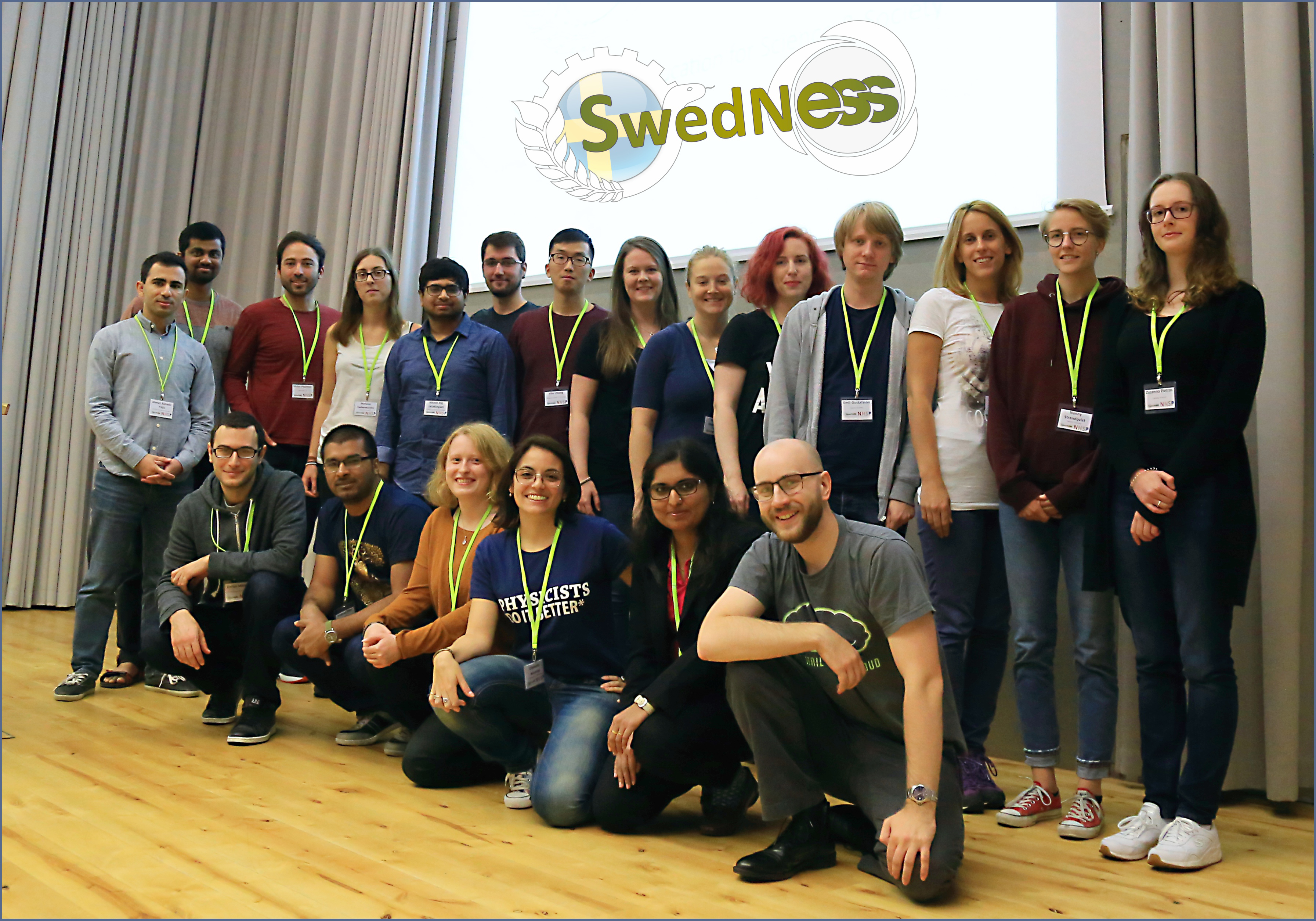 A group picture of all of the PhD students within SwedNess.